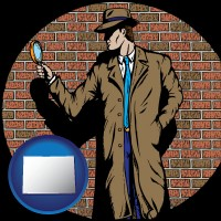 colorado a private detective with a brick wall background