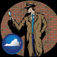 virginia a private detective with a brick wall background